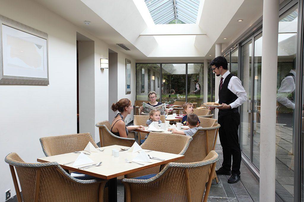 Family in the brasserie at The Apollo Hotel in Basingstoke