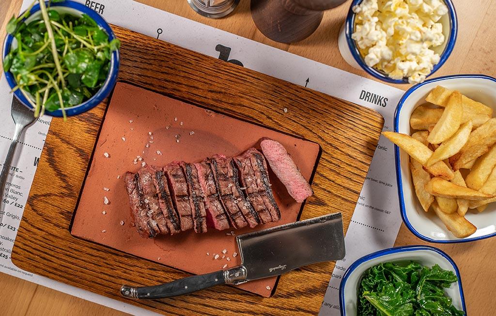 Flatiron Steak at Hideaway steakhouse Basingstoke