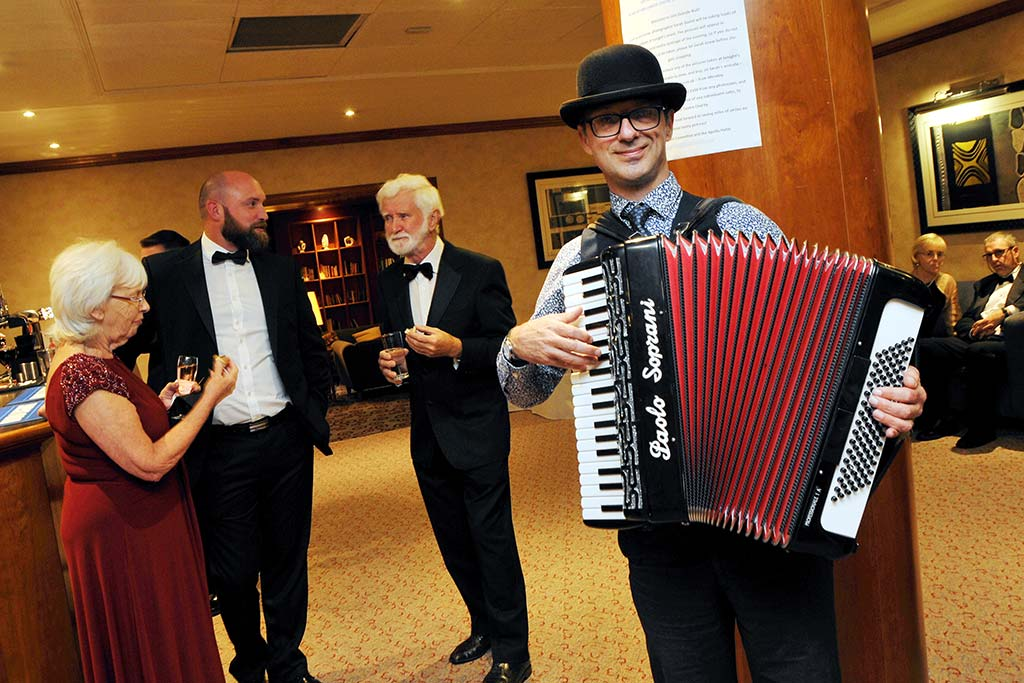 accordian player at Basingstoke Gala Dinner Event