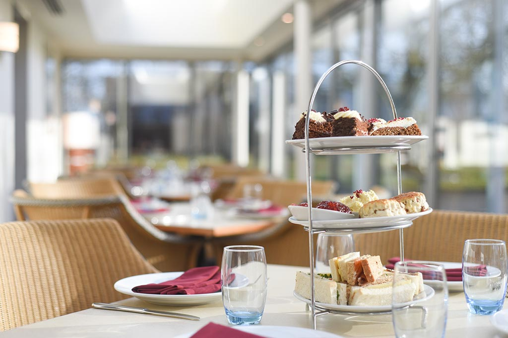 afternoon tea in basingstoke at the brasserie, Apollo Hotel