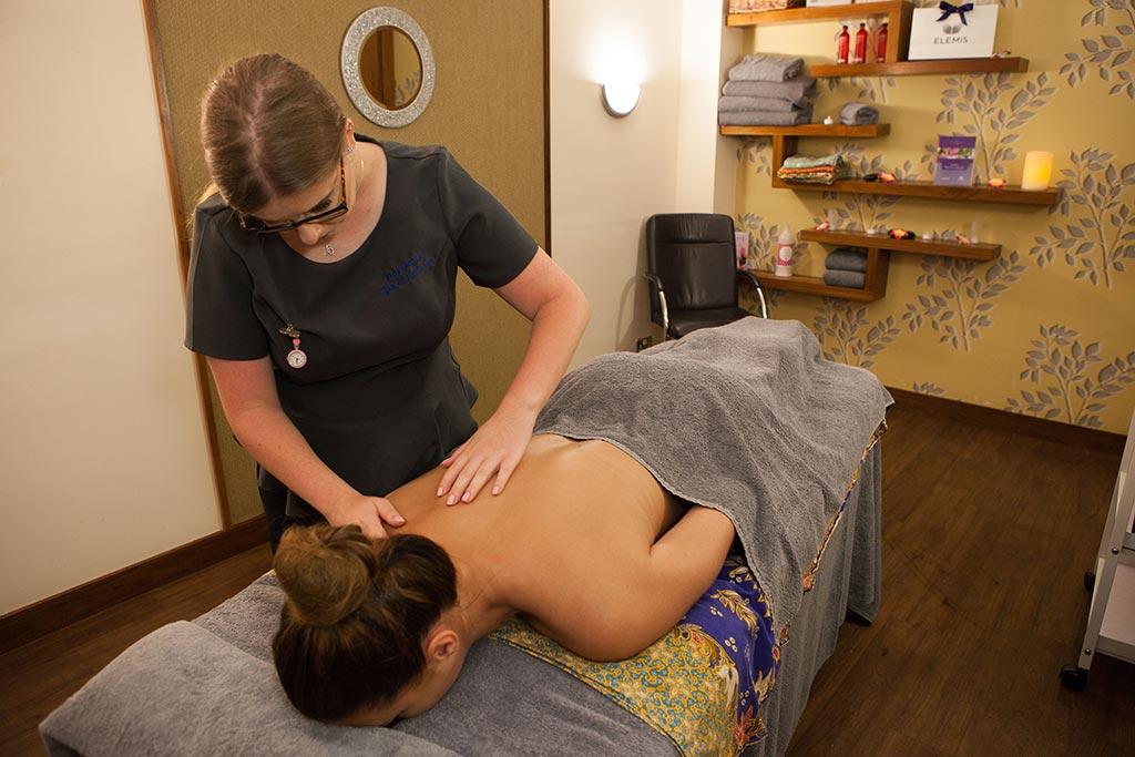 back massage at Horizons Basingstoke
