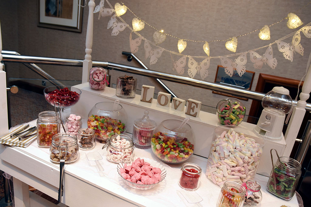 wedding sweets trolley in Basingstoke Wedding Venue