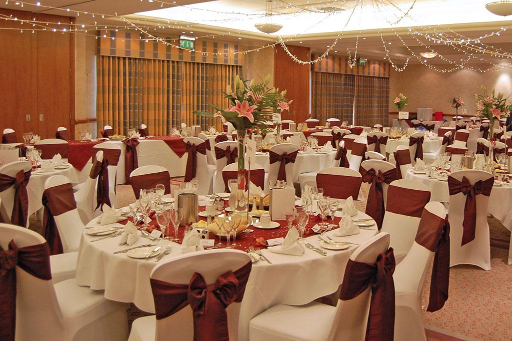 Winter Wedding Reception in Basingstoke