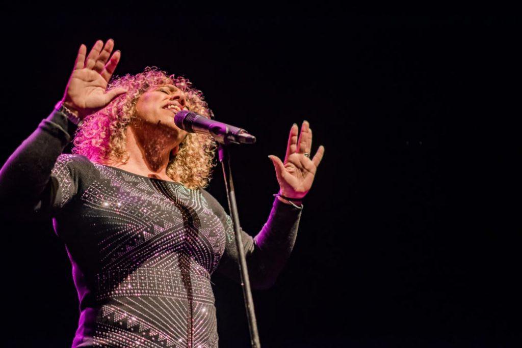 Natasha Watts singing in Basingstoke